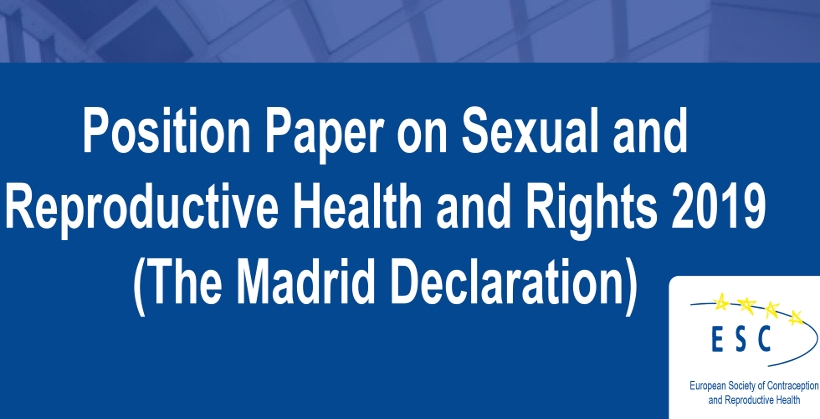 Position Paper on Sexual and Reproductive Health and Rights 2019